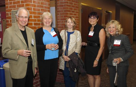 Former faculty and alumni catch up at reunion
